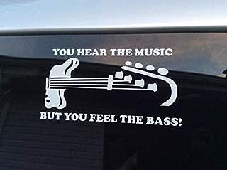 CLIFFBENNETT Bass Player Decal, bass Player Sticker, bass Guitar Decal, bass Guitar Sticker, Hear The Music but Feel The bass, bass Quote Decal