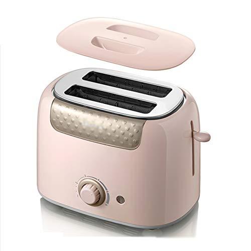 FLHLH Brotbackautomaten, Haushalt Multi-Funktions-Toaster Treiber 6-Gang Optional Zweiseitig Hochwertiges Frühstück Maschine Backen,Rosa