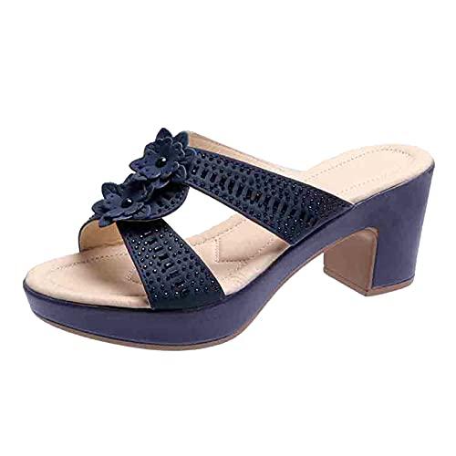 scarp donna legger comod open toe donna con tacco scarp beige sandali gioiello donna eleganti sandali estate donna zeppa scarp con zeppa donna ciabatte donna (Marina Militare,37 EU)