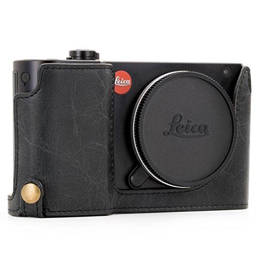 MegaGear Ever Ready MG1283 - Funda de Piel auténtica con Correa y Acceso a la batería para cámara Leica TL2 TL, Color Negro