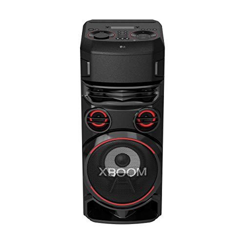 LG Speaker RN7 XBOOM W/Bass Boost, LED Dance Lighting, Bluetooth, Karaoke Creator, LG TV Sound Sync