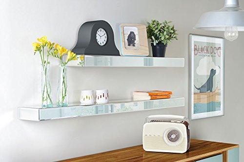 My-Furniture mensole a Specchio appese/fissate a Muro - 90 cm x 15 cm x 6 cm