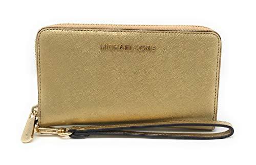 Michael Kors Women's Jet Set Travel Large Smartphone Wristlet (Gold)