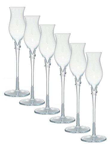 Poli Grappa Gläser 6 Stück Dick (mundgeblasen Handarbeit)