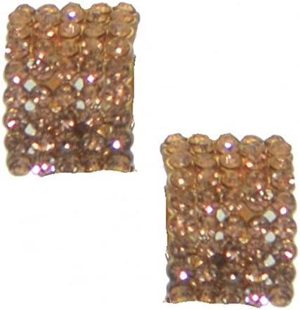 MADELEINE rose gold plated crystal clip on earrings