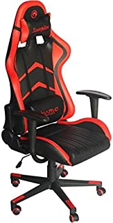 Marvo CH-106RD 专业游戏椅 适用于各种游戏会话 可调节和可拆卸的背部/颈部支撑 - 黑色/红色