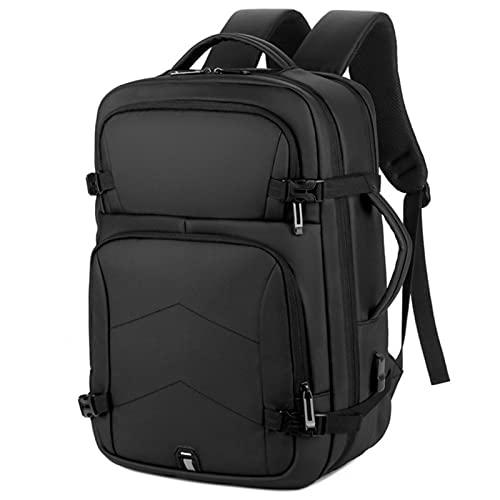 15.6 pulgadas bolso del ordenador portátil, mochila impermeable USB hombres para hombres bolsa, escuela masculina portátil viaje mochila