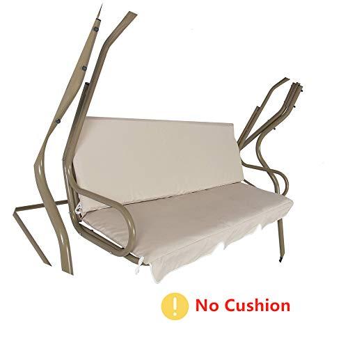 mychoose - Federa copricuscino di ricambio impermeabile per sedia a dondolo a 3 posti, per tutte le condizioni atmosferiche, protezione per dondolo (cuscino non incluso)