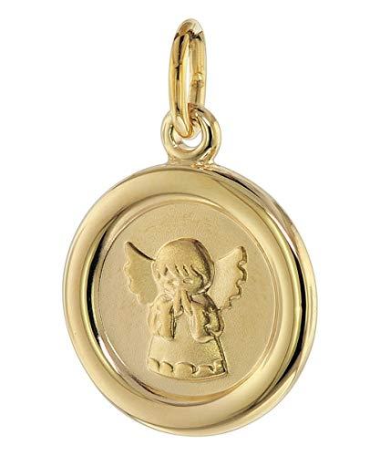 trendor Engel-Anhänger für Kinder 333 Gold 8 Karat 12 mm liebevoller Goldanhänger für Mädchen oder Jungen, Engelanhänger für Kids, toller Goldschmuck 75107