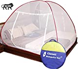Classic Mosquito Net, Double Bed King Size, Polyester Foldable - Red