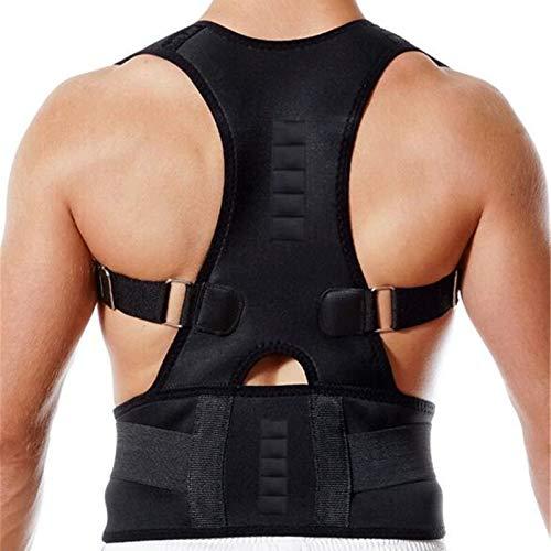 ZWDM Cinturón Lumbar Atrás Strace Posture Corrector Soporte espinal para Mujeres y Hombres Hombro Lumbar Postura Corrección de corrección Dolor de Espalda Soporte Lumbar (Color : Black, Size : Small)
