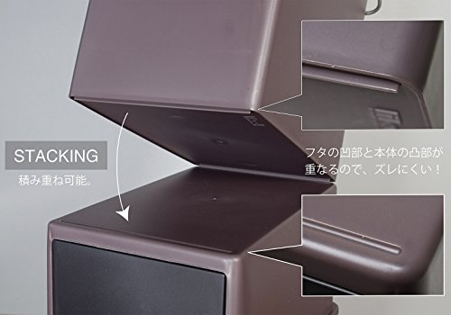 ライクイット(like-it)フタ付きゴミ箱カフェスタイルフロントオープンダスト深型ブラウン25L日本製CFS-14