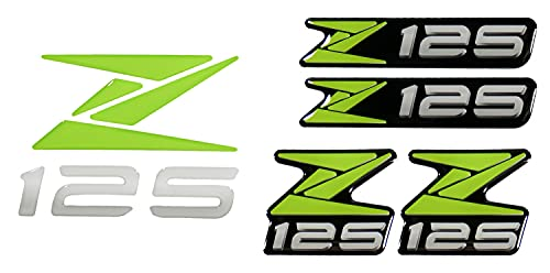 BIKE-label 910085 - Pegatina con logotipo en 3D, compatible con Kawasaki Z125