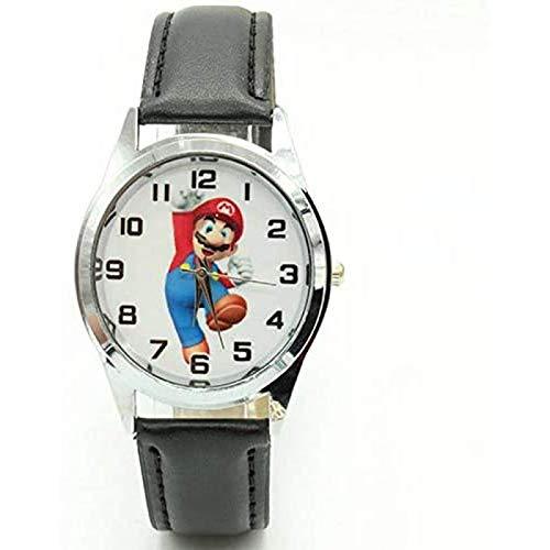 buyaoku Reloj de Cuarzo de Super Mario Reloj de Dibujos Animados Lindo Reloj de Super Mario Reloj niña niño