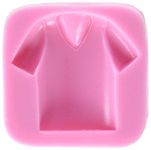 DeColorDulce T-shirt, siliconen vorm, roze, 6 x 6 x 2 cm
