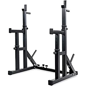 Homlpope Adjustable Squat Rack Stands Barbell Bench Barbell Rack Press Dipping Station Gym
