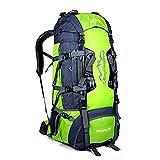 50L 80L Zaini da Escursionismo, Ideale per Lo Sport all'aperto, Trekking, Viaggi di Campeggio, Montagna. Borsa per Alpinismo Impermeabile, Daypack da Arrampicata da Viaggio, Zaino (80L Verde, 80L)