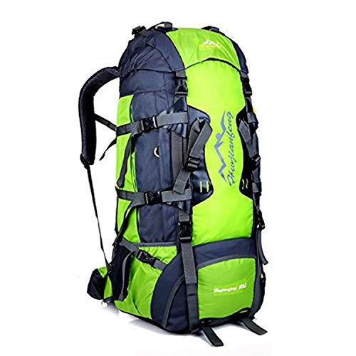 50L/80L Trekkingrucksacke, Outdoor Wanderrucksäcke, ideal für Sport im Freien, Wandern, Trekking, Camping Reisen, Bergsteigen. wasserdichte Bergsteigtasche, Reiseklettern Daypacks, Rucksack (80L Grün)