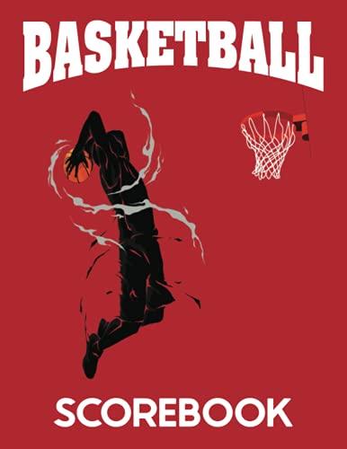 Basketball Scorebook: Game Record Notebook, Basketball Statistics Tracker, Red Cover
