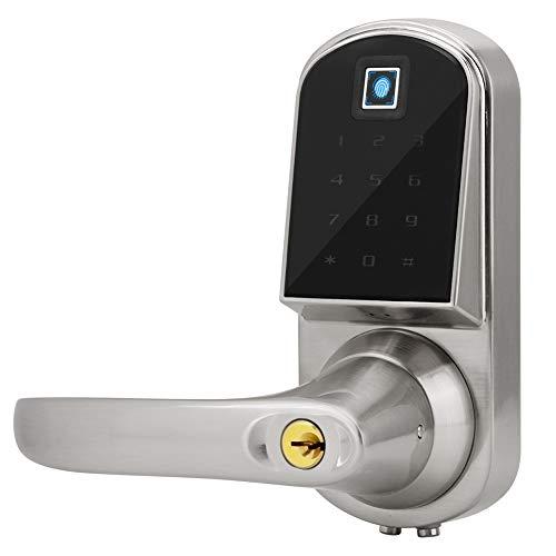 Smart Fingerprint Door Lock, Keyless Entry Touch Screen Digital Keypad Door Lock for Home/Office/Hotel/shop Security