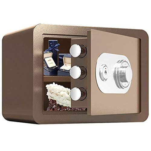 Tresore-SYY Kleines Haus Tresore, Feuerfester Stahlschrank, Mechanischer Passwort-Safe, Hotel/Bank, 4 Farben, Höhe 25 Cm / 30 Cm (Color : Brown, Size : 30cm)