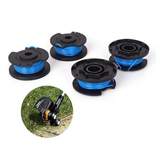 firlar 4 Stück Rasenmäher Fadenspulen Set Schnurschneider Ersatzspulen Grasmäher Zubehör Ersatzteile für Ryobi One + 18V 24V 40V