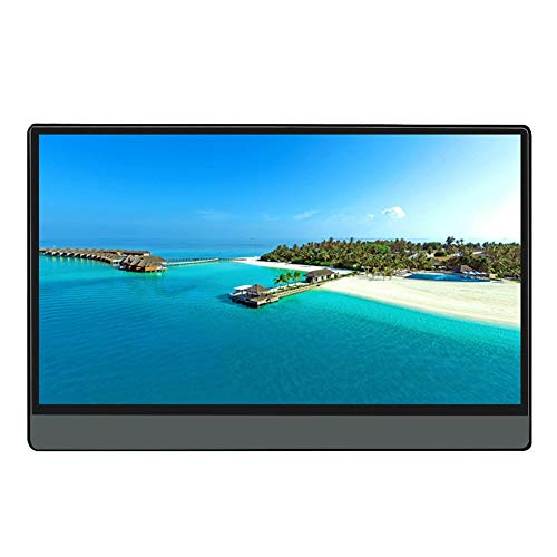 N / A 14-inch Portable Monitor HDR Large Screen HDMI Ultra-thin Touch 1080P HD Display - P14A with Leather Case without Battery & Touch