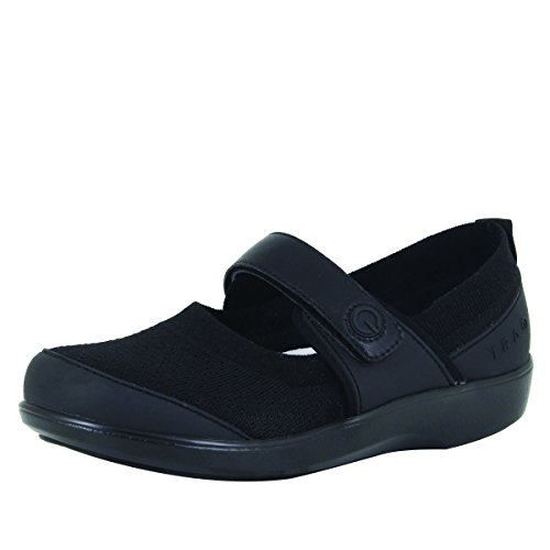 Alegria TRAQ Qutie Womens Smart Walking Shoe All Black 8 M US