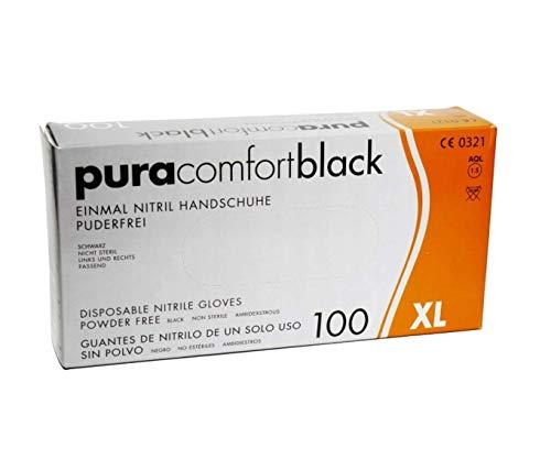 Pura Comfort Black Einmal Nitrilhandschuhe SCHWARZ (XL)