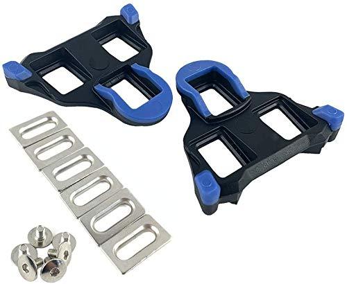 MMBOX - Tacchetti per bici da strada a 2 gradi, autobloccanti, per Shimano SH-12 SPD-SL System scarpe (blu)