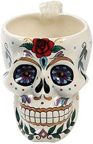 Blue Superlatite Decorated Day of The Dead Skull Home Decor Mug San Francisco Mall - Drinking H