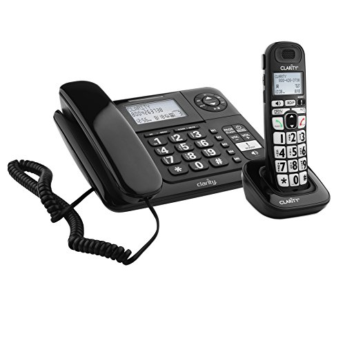 Clarity E814 Moderate Hearing Loss Cordless Phone with E814HS Expandable Handset Bundles (Clarity E814CC)