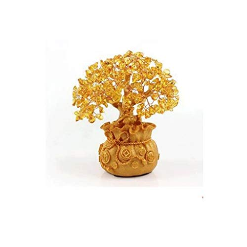 YSMLL Suerte Choi Resina Escultura Decoración Salón Vinoteca Fortune Tree Pequeño Adorno...