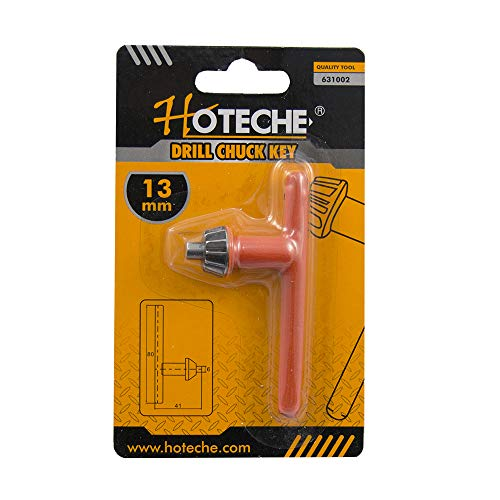 Hoteche 631002 Llave Portabrocas, Naranja, 13 mm