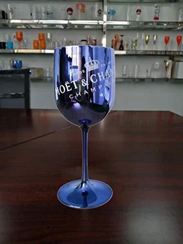 Coffee To Go Becher,2Pcs Wine Party Champagner Coupes Glas Cocktail Glas Moet Champagner Flöten Überzug Weinbecher Becher Galvanisierte Plastikbecher, Blau