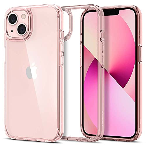 Spigen Ultra Hybrid Hülle Kompatibel mit iPhone 13 Mini -Rose Crystal