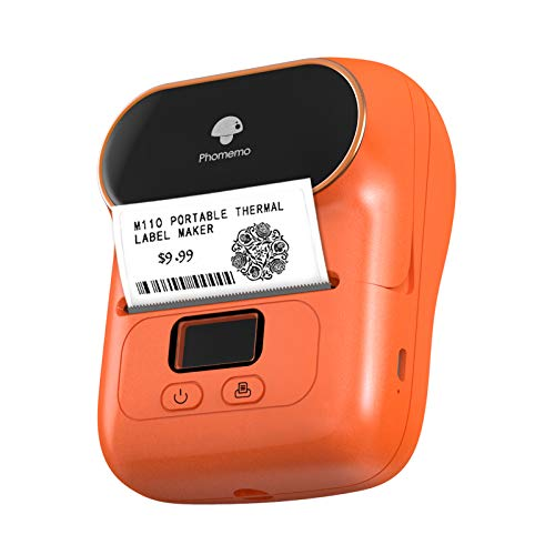 Phomemo M110 Wireless Sticker Label Printer, Clothing Tag Printer with Bluetooth Price Tag Printer Retail Label Printer Barcode Printer Product Label Machine, Compatible for Android & iOS System