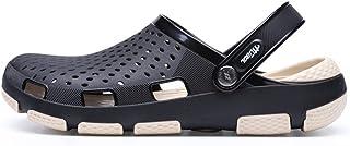 FDSVCSXV Mens Garden Clog Mules Sandal, Anti-Slip Water Shoes Breathable Sandals Slippers Outdoor Beach Shower,Black,39