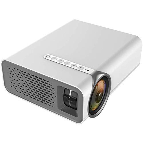 Portable HD Startpagina Beamer, Ondersteuning for Binnenlandse Zaken en andere gelegenheden, ondersteuning van een verscheidenheid van externe apparaten, groot scherm visuele ervaring, White ZHNGHENG