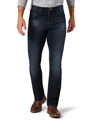 Wrangler Authentics Men's Slim Fit Straight Leg Jean, Raven, 34W x 30L