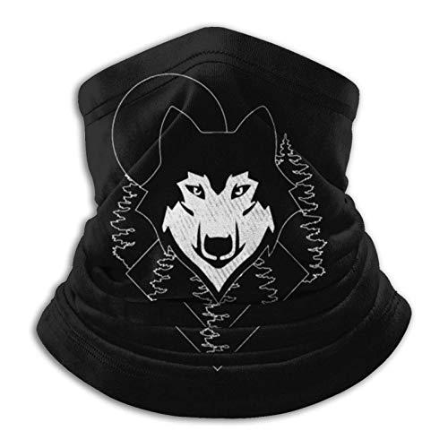 Overlooked Shop Pasamontañas Tat-Too Wolf Mascarilla para el Cuello Polaina para el Cuello Pasamontañas Multifuncional Bandana al Aire Libre