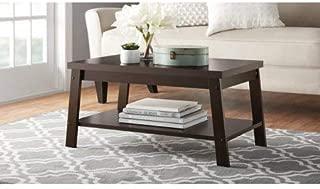 mainstays coffee table black oak finish