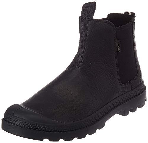 Palladium Unisex Pampa Leather Chelsea-Stiefel, Schwarz/Schwarz, 37 EU