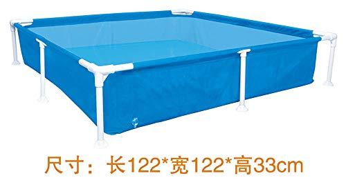 Aerlan Piscine familiale Swim Center avec sièges,Piscine Gonflable de Bain Pliable Robuste,Piscine extérieure pour enfants-Blue122