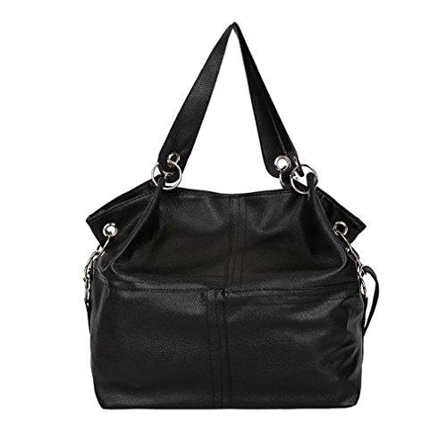 La donna in pelle di giunzione borse a tracolla con sacchetto Corssbody&borsetta designer Borsette Borselli sacchetto popolare può16 nero