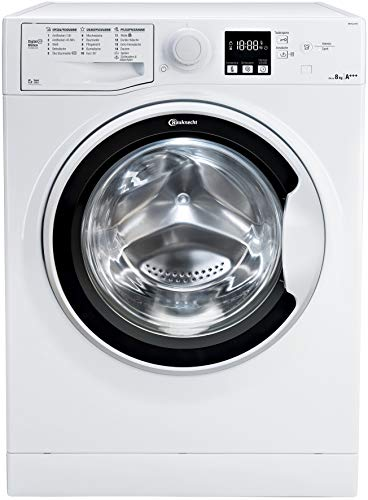 Bauknecht WM Pure 8F16 Waschmaschine Frontlader/A+++ / 8 kg / 1551 UpM/ Antiflecken 100 / Inverter-Motor/ AutoClean / Startzeitvorwahl