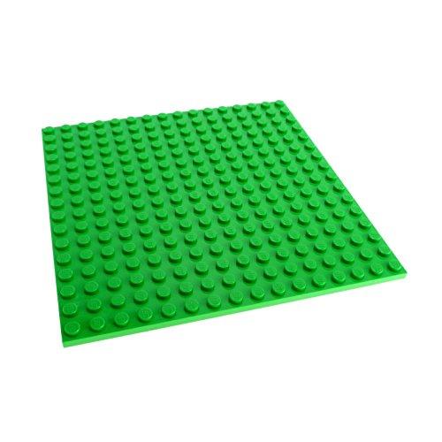 Preisvergleich Produktbild 1 x Lego System Bau Basic Platte hell grün 16x16 Noppen beidseitig bespielbar 5771 91405