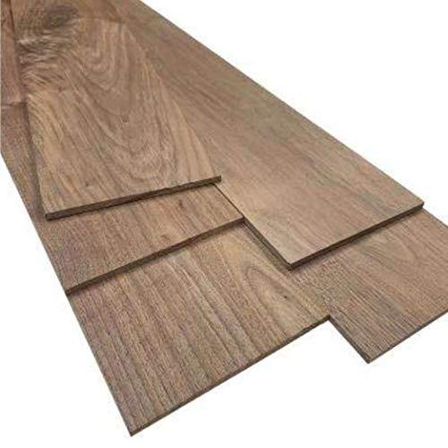 """Black Walnut Kiln Dried Exotic Wood Lumber Boards, 1/4"""" x 7"""" x 24"""", Set of 2"""