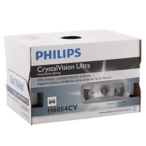 Philips H6054CVC1 CrystalVision ultra Upgrade Xenon-Look Halogen Headlight, 1 Pack