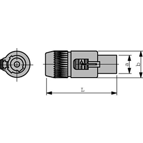 Neutrik NAC3FCA Kabelbuchse mit Verriegelung, Power-In, Schraubanschlüsse, blau